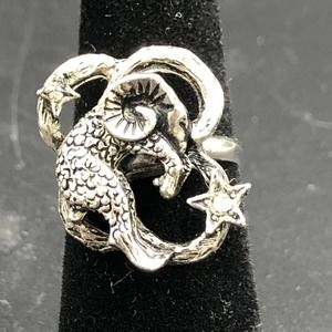 Aries Ram Astrology Constellation Ring Size 6